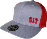 613 Cap Melange Mesh Grey Red Flex Fit