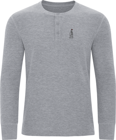 613 Thermal Long Sleeve Henley Grey