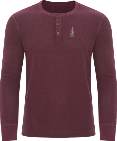 613 Thermal Long Sleeve Henley Maroon