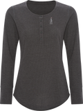 613 Women's Thermal Long Sleeve Henley Charcoal