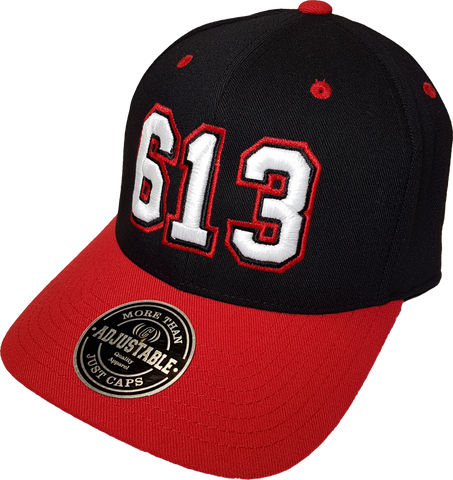 Ottawa Represent 613 Adjustable Cap Black and Red