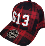 Ottawa Represent 613 Flex Fit Cap Black and Red Plaid