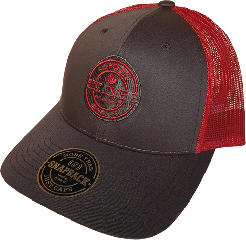 Six One 3 Benchmark Mesh Back Trucker Cap Coffee Claret