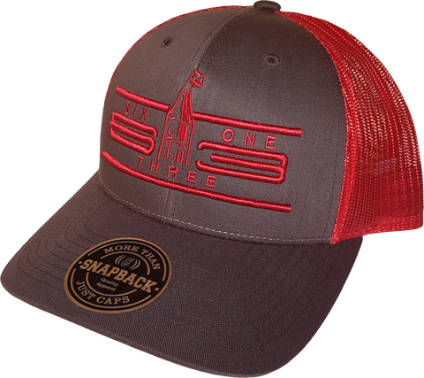 Six One 3 Cyber Mesh Back Trucker Cap Coffee Claret