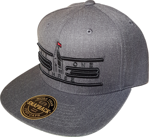 Six One 3 Cyber Snapback Cap Heather Graphite