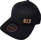 613 FLS Black & Metallic Gold Adjustable Snap