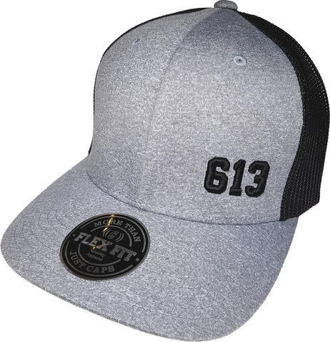 613 Cap Melange Mesh Grey Black Flex Fit