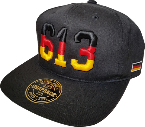 Germany Snapback Cap 613 Black