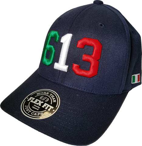 Italy 613 Cap Flex Fit Navy Blue