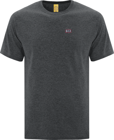 Six One 3 Pure Patch T-Shirt Dark Heather Grey
