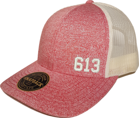 613 Low Profile Trucker Red Heather Birch