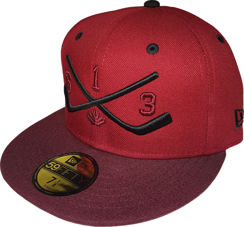 Six One 3 Sticks 59Fifty Fitted Cardinal Maroon
