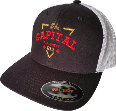 613 Ottawa The Capital Cap Black White Mesh Flex Fit
