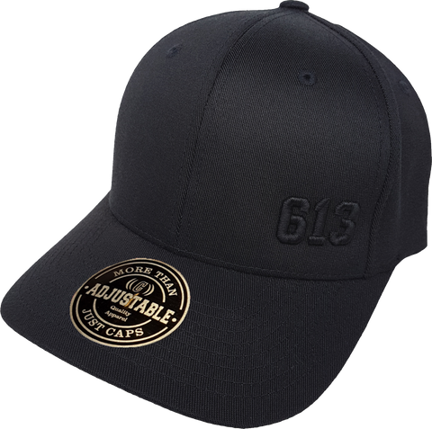Ottawa Cap Represent 613 Crisp Blackout Adjustable Cap
