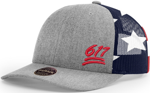 617 Cap Low Profile Printed Stars And Stripes Trucker