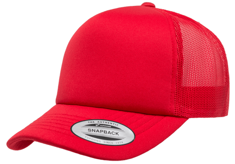 YP CLASSICS® Curved Visor Foam Trucker Cap Red