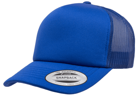YP CLASSICS® Curved Visor Foam Trucker Cap Royal