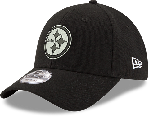 Pittsburgh Steelers New Era 9Forty Black And White Adjustable