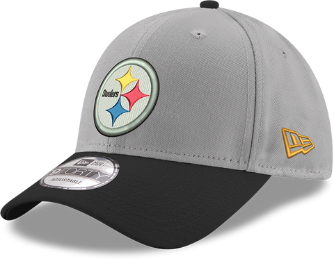 Pittsburgh Steelers New Era 9Forty Grey Adjustable