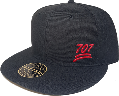 100 Emoji Hat 707 Area Code Fitted