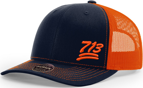 713 Cap Trucker Navy Orange
