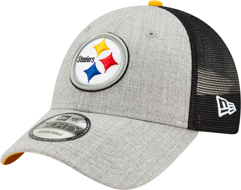 Pittsburgh Steelers New Era 9Forty Heathered Trucker Cap