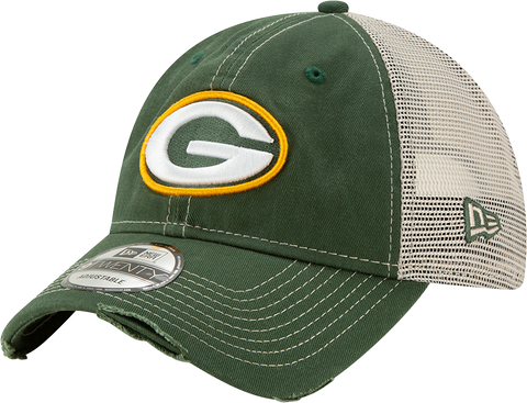 Green Bay Packers New Era 9Twenty Mesh Back Trucker Cap