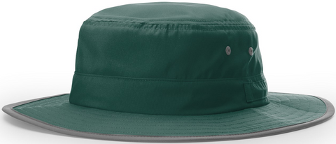 Blank Lightweight Performance Wide Brim Sun Hat Dark Green