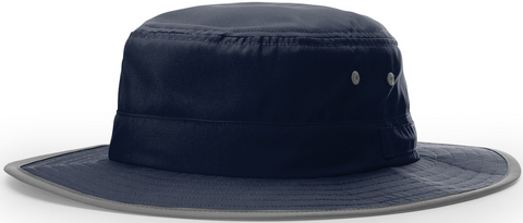 Blank Lightweight Performance Wide Brim Sun Hat Navy Blue