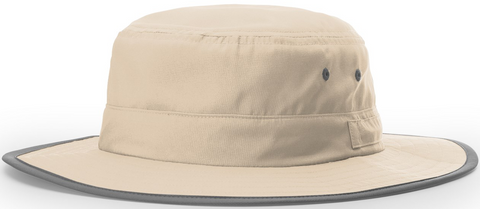 Blank Lightweight Performance Wide Brim Sun Hat Stone