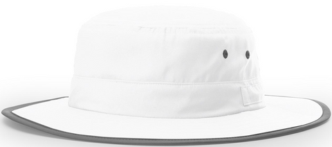 Blank Lightweight Performance Wide Brim Sun Hat White
