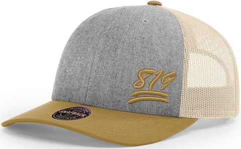 819 Cap Low Profile Trucker Heather Amber Gold
