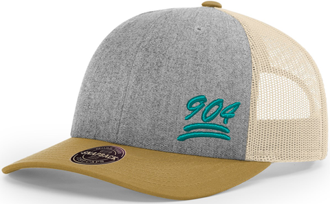 904 Hat Low Profile Trucker Heather Amber Gold