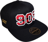 905 Area Code Claw Snapback Black