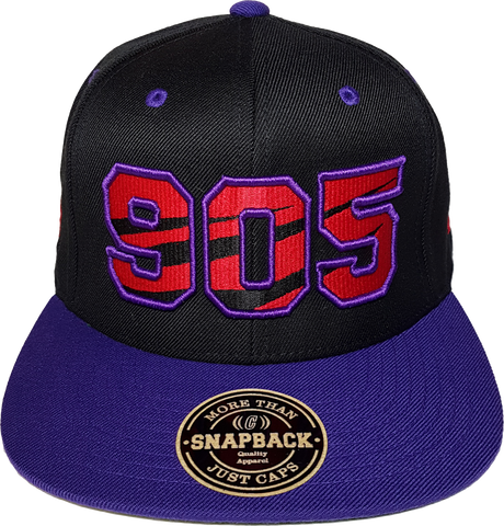 905 Area Code Claw Snapback Black Pruple