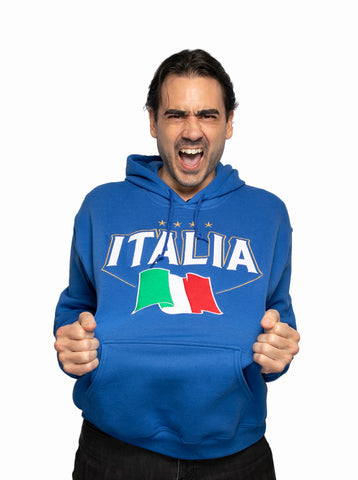 Italy Embroidered Hoodie Chivalry Royal