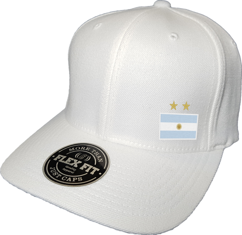 Argentina Cap Flex Fit FLS White