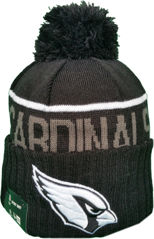 Arizona Cardinals Fleece Lined Black Pom Toque