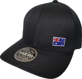 Australia Cap Flex Fit FLS Black