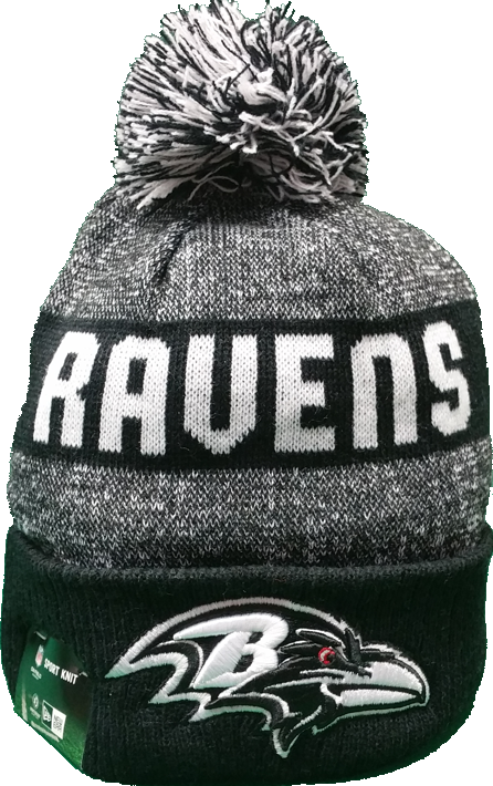 Baltimore Ravens Black 2016-2017 Sideline Knit Pom Toque