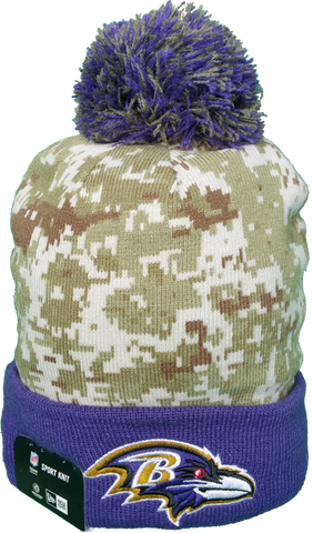 Baltimore Ravens Salute to Service Sideline Fleece Pom Toque