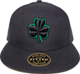Black Irish Clover Fitted Hat