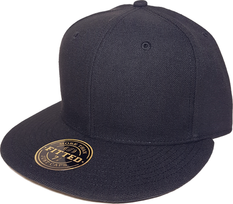 Custom Embroidered Blank RICHARDSON Fitted Cap Black