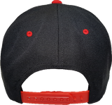 Six One 3 Ottawa Felt Snapback Cap Black Red