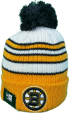 Boston Bruins Traditional Stripe Pom Toque