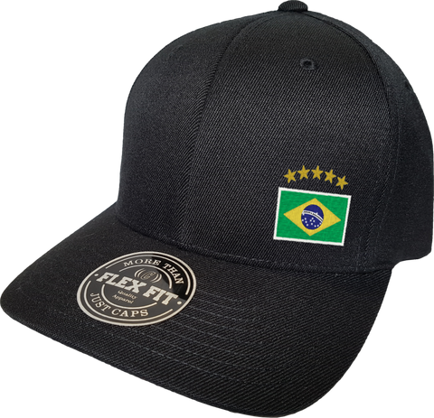 Brazil Cap Flex Fit FLS Black