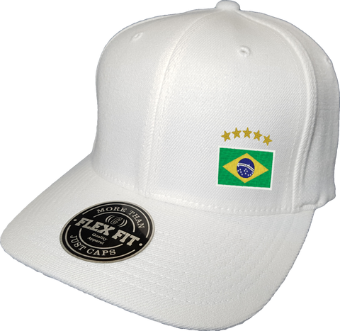 Brazil Cap Flex Fit FLS White