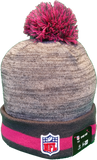 San Diego Chargers Breast Cancer Awareness Sideline Fleece Pom Toque