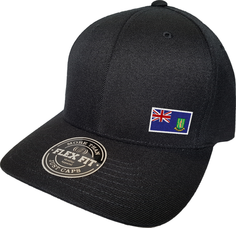 British Virgin Islands Cap Flex Fit FLS Black