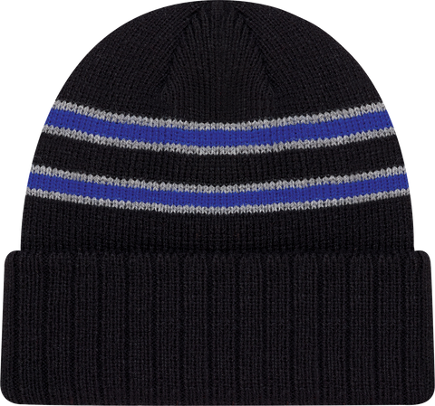 Cable Knit Beanie Toque Black Royal